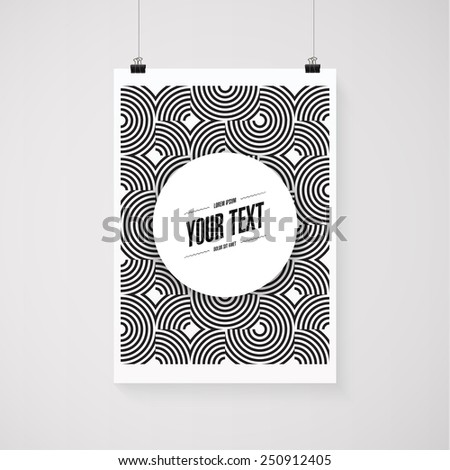 Abstract minimal geometric lines background wallpaper with round text box design  Eps 10 stock vector illustration  - stock vector