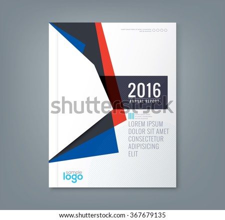 Abstract minimal geometric shapes design background for business annual report book cover brochure flyer poster - stock vector