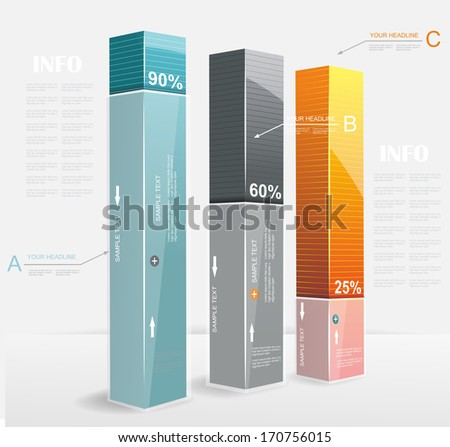 Abstract Minimal Ifographic Design. Can be used for infographics, numbered options, steps to success, website layout.  - stock vector