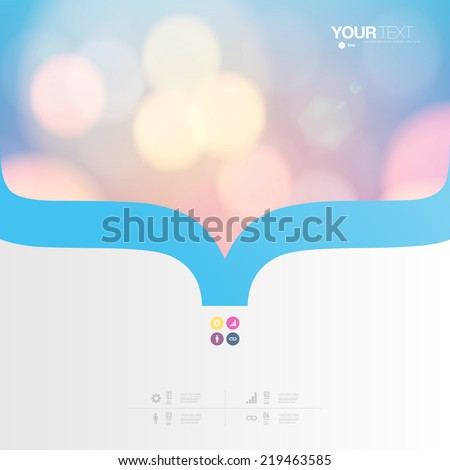Abstract minimal pastel color design with your text and bokeh lights   Eps 10 stock vector illustration  - stock vector