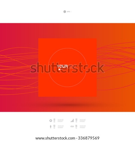 Abstract minimal text box design with your text and web icons  Eps 10 stock vector illustration  - stock vector