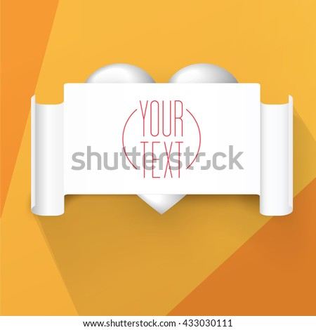 Abstract Minimal  Valentines Day Style Invitation Flyer Poster Design Template Vector  - stock vector