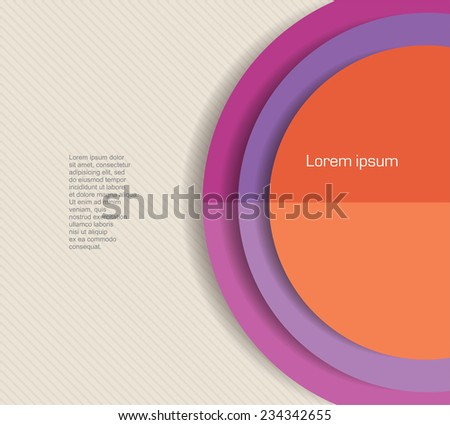 Abstract minimal vector design of circle shaped banner or text - stock vector