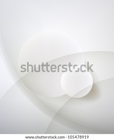 Abstract minimalist design in a light tone. Two circle. - stock vector