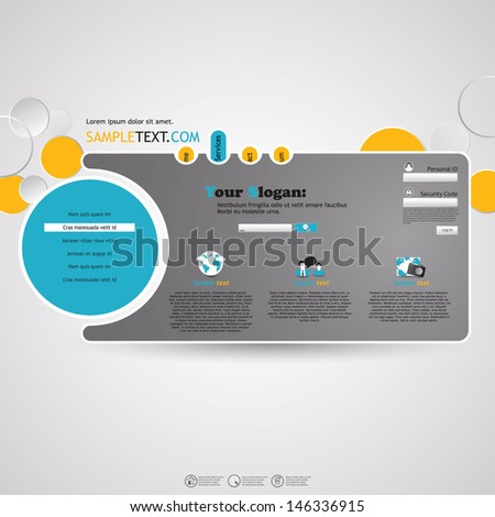 Abstract Minimalistic Website Template  - stock vector