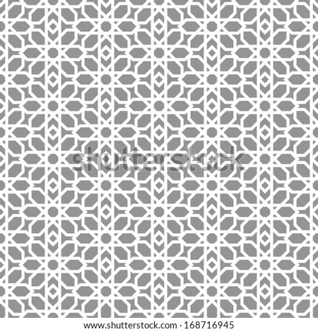 Abstract, modern background, geometric seamless patterns, islam style ornament, monochrome vector wallpaper, fashion fabrics and wrappings with graphic elements for design - stock vector