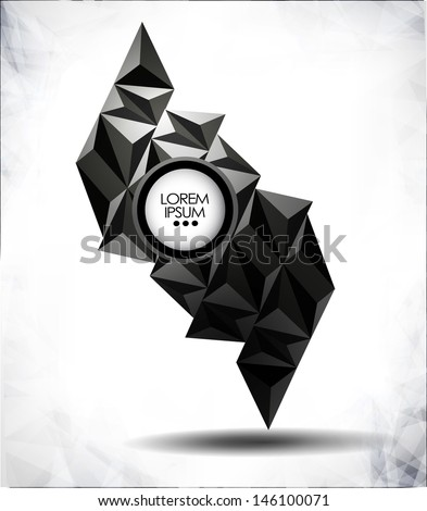 abstract modern background with bubble for website, info-graphics, banner/vector design illustration  - stock vector