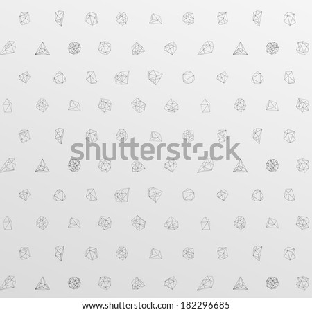Abstract modern background with polygonal seamless pattern - stock vector