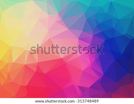 Abstract modern background with triangles in bright colors. Vector illustration. Background for brochures, covers, flyers, invitations, presentations. - stock vector
