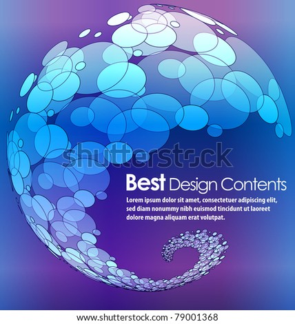 Abstract modern banner theme background with circles and splash, Editable Illustration - stock vector