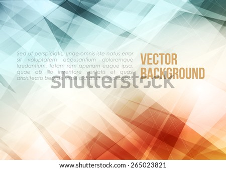 Abstract modern blue and red retro color background with lighting effect. Bright cover design template layout for corporate business book, booklet, brochure, poster, banner, flyer. Vector - stock vector