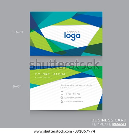 Abstract modern blue green business card em vetor stock 391067974 abstract modern blue green business card name card design template reheart Gallery