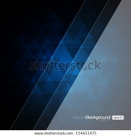 Abstract Modern Blue vector background for Your Text   EPS10 Design - stock vector