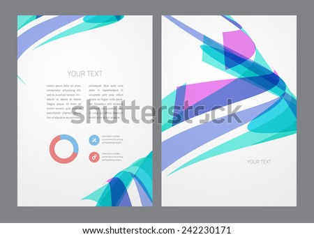Abstract modern bright multicolored flyer. - stock vector