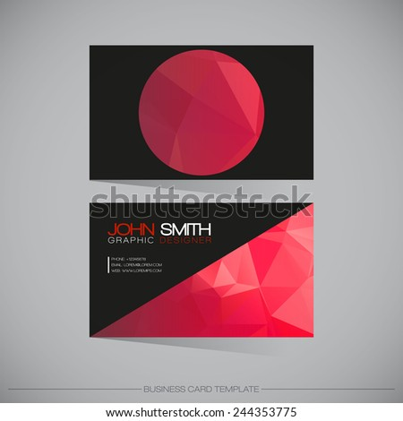 Abstract Modern Business - Card Template | EPS10 Vector Design - stock vector