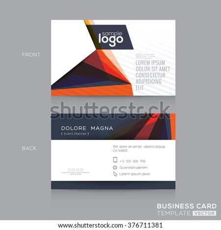 Abstract Modern Business Cards Design Template Stock Vector - Business cards examples templates