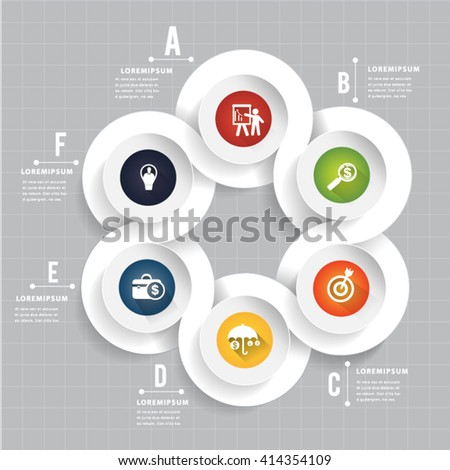 Abstract modern circle template form  infographic. Can uesd for presentation, data diagram and infographic business - stock vector