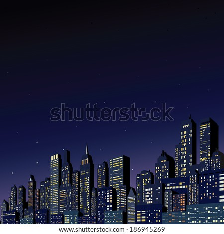 Abstract Modern Cityscape. Vector Background - stock vector