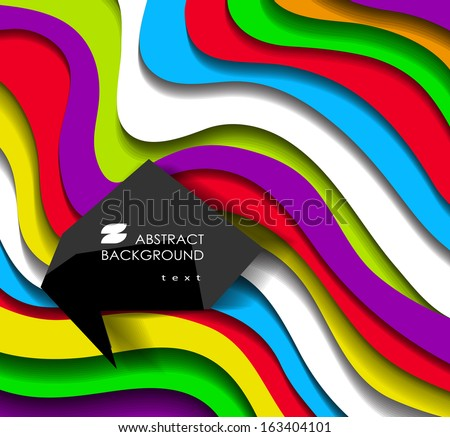 Abstract modern colorful  background - stock vector