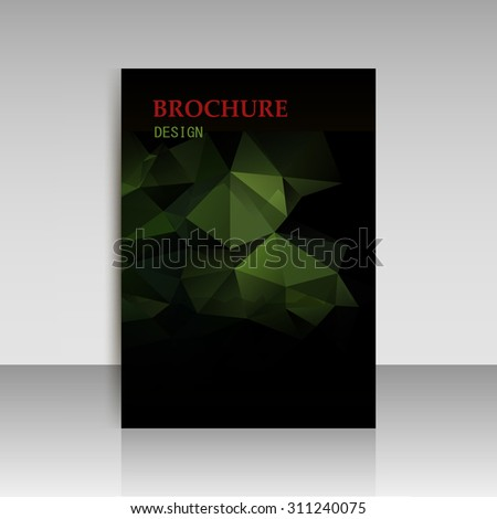 Abstract modern cover, report brochure, flyer design template with geometric triangular polygonal style. Vector eps10   - stock vector
