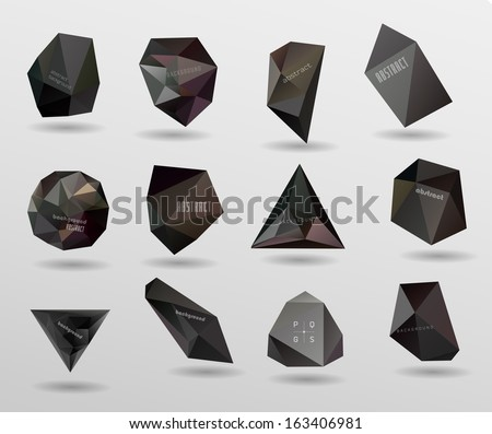 abstract modern crystal black Label, bubble , can be used for website, info-graphics, banner. - stock vector