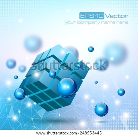 Abstract modern depth of field technology composition. Vector illustration - stock vector