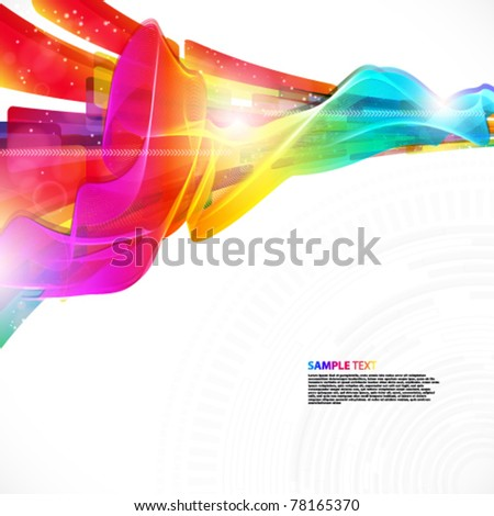 Abstract modern design background with editable elements. - stock vector