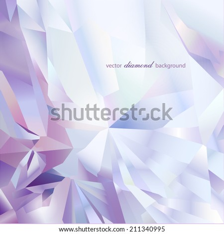 Abstract modern diamond geometric vector background - stock vector