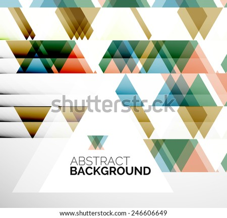 Abstract modern flyer - brochure design template, geometric background