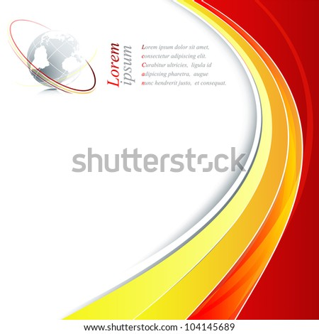 abstract modern frame with globe and copy space. Eps10 - stock vector
