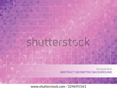 Abstract modern geometric purple background. - stock vector