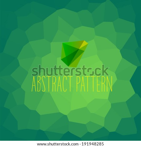 Abstract modern honeycomb style background with a symbol in the foreground. - stock vector