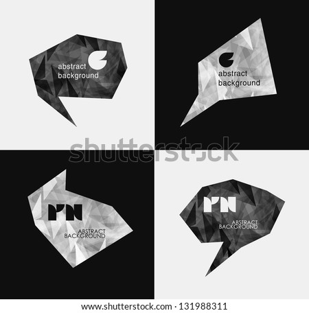 abstract modern Label or bubble with background, can be used for website, info-graphics, banner. - stock vector