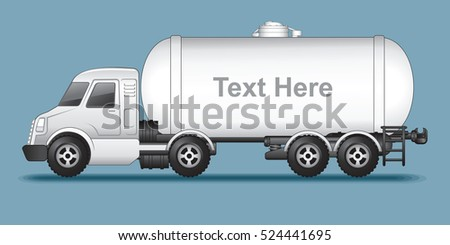 Abstract Modern Oil Tank Truck. Template Ready for Your Text and Design.