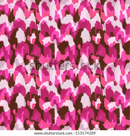 Abstract modern pink animal seamless fabric pattern - stock vector