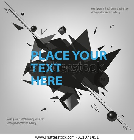 Abstract modern polygonal background for covers and flayer - stock vector