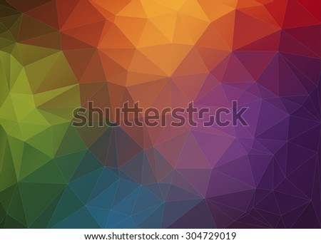 Abstract Modern polygonal background. Triangles background for your design - stock vector