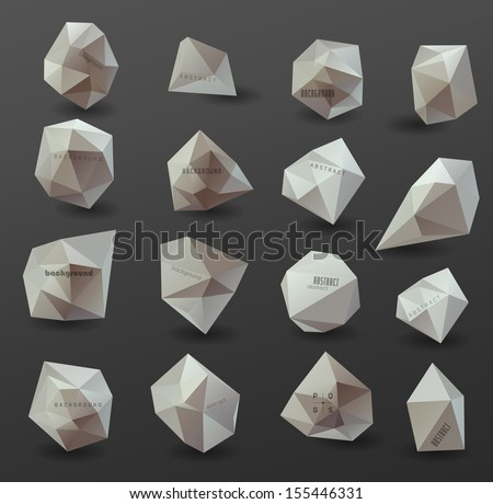 Abstract modern  polygonal bubble, label website header or banner, can be used for website, info-graphics - stock vector