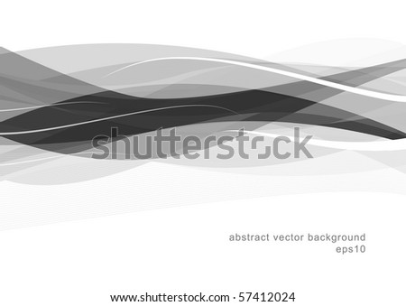 Abstract modern smooth background design (eps10) - stock vector