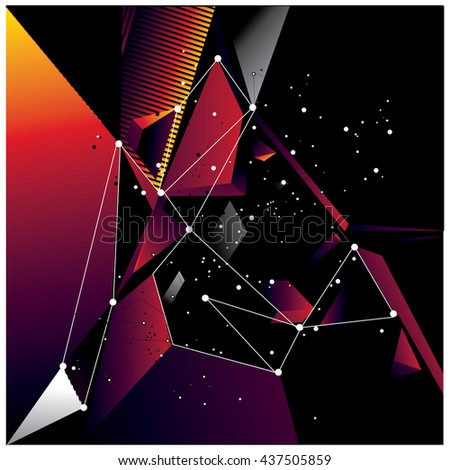 Abstract modern triangles background pattern illustration. Space layout and design template. Composition of pattern design.