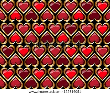 Abstract modern valentine background with hearts - stock vector