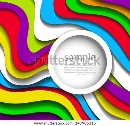 Abstract modern wave colorful  background - stock vector