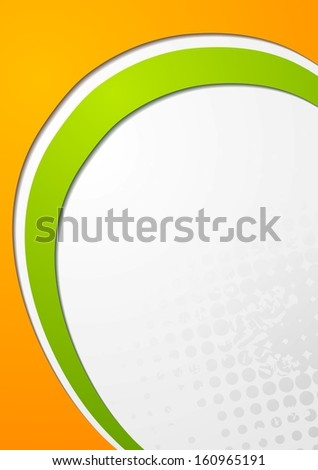 Abstract modern wavy vector background - stock vector