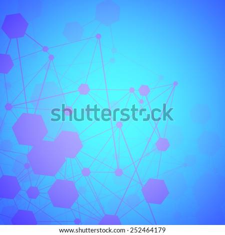Abstract Molecule background - stock vector