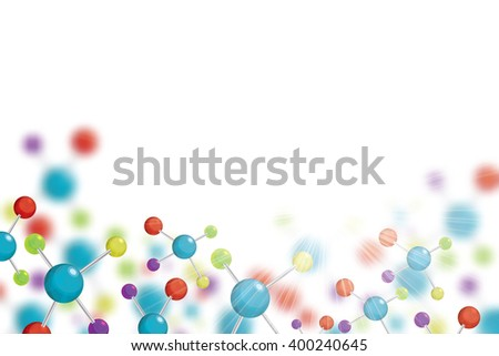 Abstract molecule colorful colors background