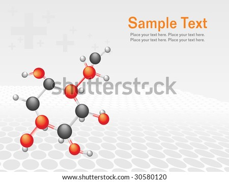 abstract molecule structure background, vector illustration - stock vector