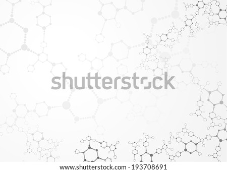 Abstract molecules medical background