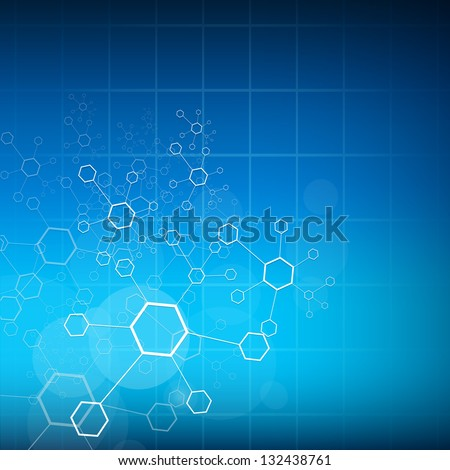 Abstract molecules medical background. EPS 10. - stock vector
