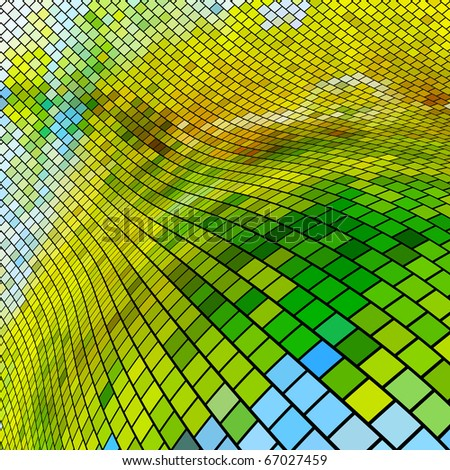 Abstract mosaic background. - stock vector