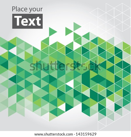 Abstract mosaic background. Blue and green cubic geometric background. Design elements. Layered file - stock vector